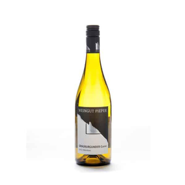 Flaschenabbildung, 2015er Grauburgunder, Weingut Pieper