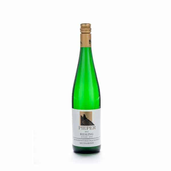 Abbildung, Weinflasche, 2013er Riesling Auslese süß, Weingut Pieper, Königswinter bei Bonn