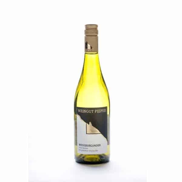 Flaschenabbildung, 2016er Weissburgunder, trocken vom Weingut Pieper