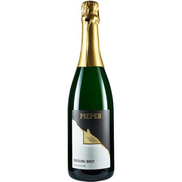 Sektflasche, Riesling Brut, Sekt, Weingut Pieper, Mittelrhein