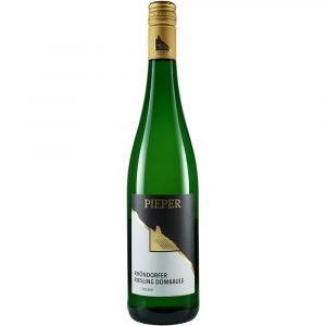 Weinflasche, Riesling Domkaule trocken, Weißwein, Weingut Pieper, Mittelrhein