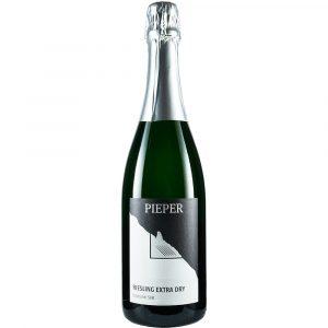 Sektflasche, Riesling Extra Dry, Sekt, Weingut Pieper, Mittelrhein