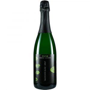 Sektflasche, Sauvignon Blanc Brut, Sekt, Weingut Pieper