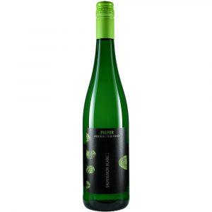 Weinflasche, Sauvignon Blanc trocken, Weißwein, Weingut Pieper, Mittelrhein